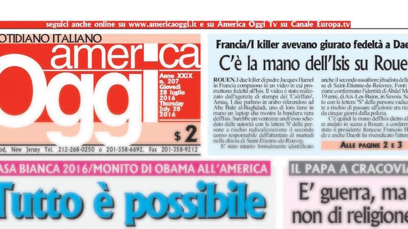 La giornalista Ketty Millecro emoziona gli italiani negli states. Il suo approdo ad America oggi
